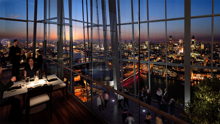 Aqua shard london night guide for Restaurants at the shard