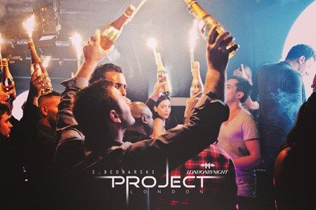 Project Club Bottle Price Menu