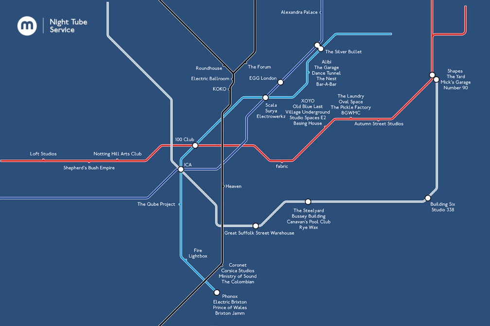 London's First Night Tube
