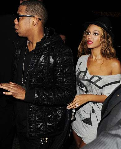 Jay Z and Beyonce are on the Maddox London Celebrities List