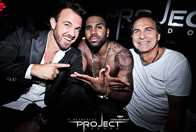 Jason Derulo is one of the Project Club London Celebrities