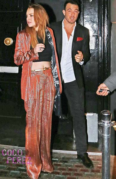 Lindsay Lohan is one of the Toy Room London Celebrities