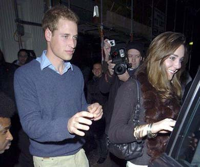 Prince William and Duchess of Cambridge Kate Middleton are in the Mahiki London Celebrities Liist