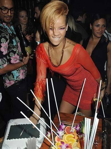 Rihanna is one of the Mahiki London Celebrities