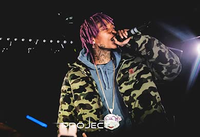 Wiz Khalifa is one of the Project Club London Celebrities
