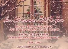 Complimentary Mulled Wine at Bodo's Schloss