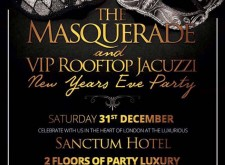 The Masquerade and VIP Rooftop Jacuzzi New Years Eve Party at Sanctum Hotel